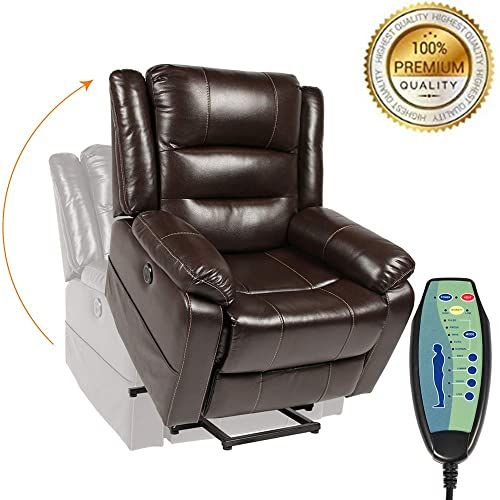 Shop For Piedle Electric Power Lift Recliner Chair Leather Recliners Elderly Home Sofa Chairs Heat Massage Remote Control 3 Positions 2 Side Pockets U In 2020 Recliner Chair Lift Recliners Lift Chairs
