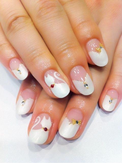 cat nail art