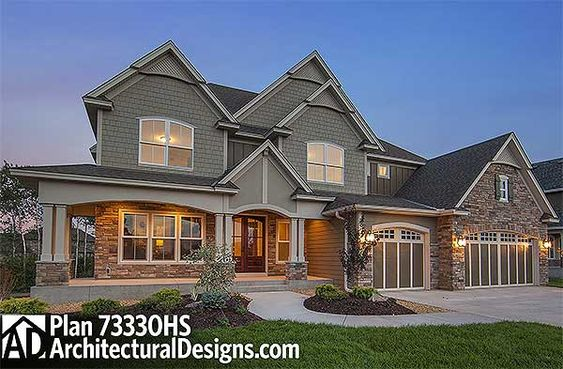 Plan 73330hs craftsman with amazing great room house for Craftsman house plans with bonus room
