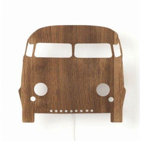 Jut en Juul Lifestyle for Kids : Houten wandlamp  - Car auto