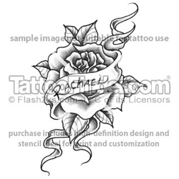 rose with banner google search tattoo inspiration pinterest name banners tattoo designs. Black Bedroom Furniture Sets. Home Design Ideas