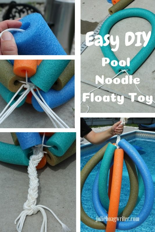 Diy Pool Floaty Toy Made With Pool Noodles A Family Lifestyle Food Blog Diy Pool Diy Pool Toys Diy Outdoor Toys