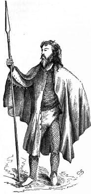 Irish peasant costume of the 15th century