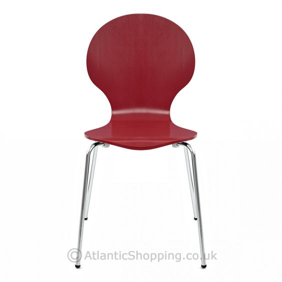 Our popular Candy Chair Red is a stylish stackable design that's great for compact storage.