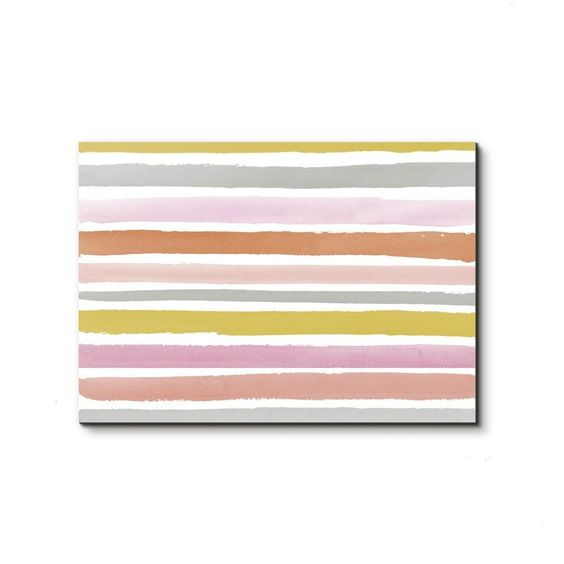 Painted pastel stripes