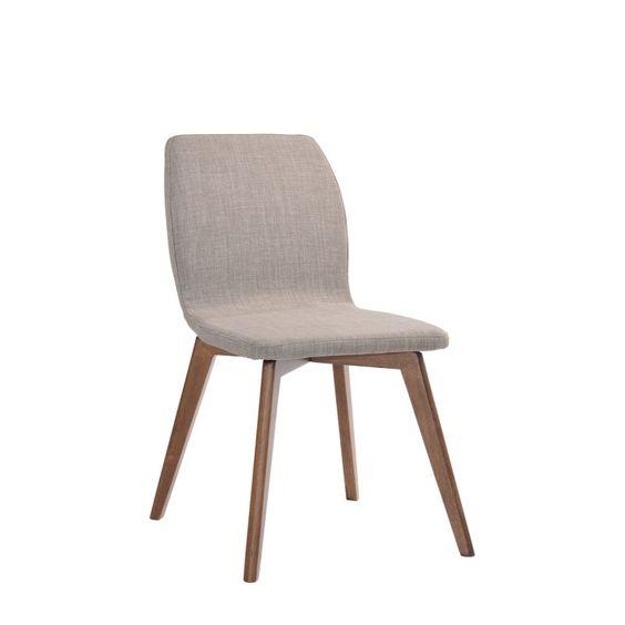 Chaise salle à manger Chaise Kenaz Sésame Noyer (Set de 2) http://www.maginea.com/fiche/P201411180089.html