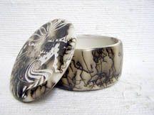 Native American Navajo Ceramic Horsehair Pottery Navajo Indian Made Ceramic Jewelry Boxes $36