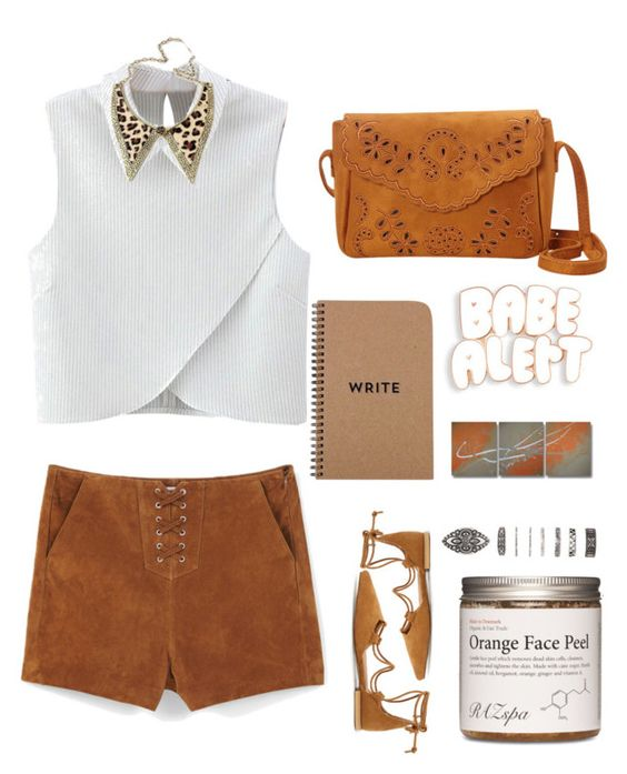 """""""Burnt Orange."""" by anexushill ❤ liked on Polyvore featuring WithChic, MANGO, Nu-G and Forever 21"""