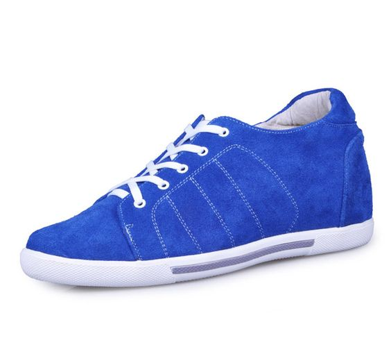 handmade height lift shoes - Blue men increasing casual shoes get tall 6.5cm / 2.56inches from Topoutshoes store