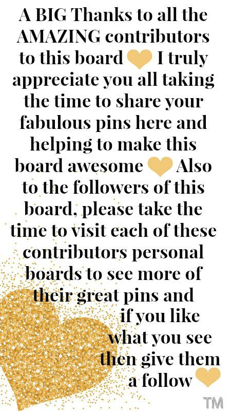 A BIG Thank You To All The Amazing Contributors To This Board ♥ Bren♥