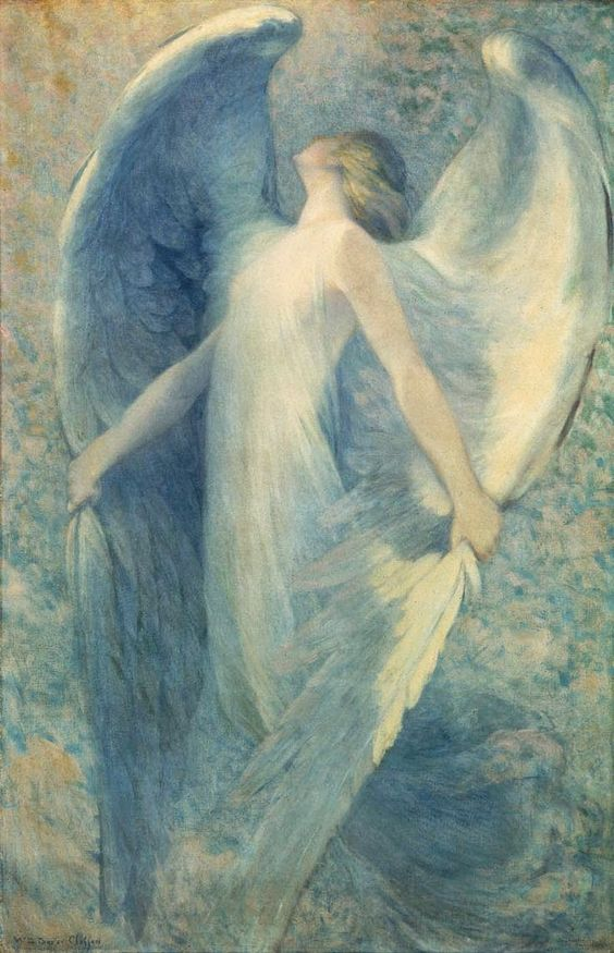 William Baxter Closson (1848-1926) —  The Angel,   1912   (736×1143):