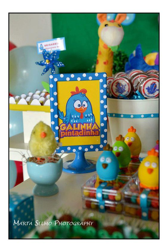 Gallina pintadita para fiesta de cumplea os party ideas - Ideas para fiestas ...