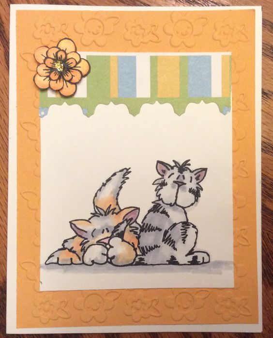 """Have a Purr-fect Day!"" Cat Card - Stamp set: Inky Antics; Stamp & Die: Heartfelt Creations; Card Stock: SU; Memento Ink; Copic Markers"