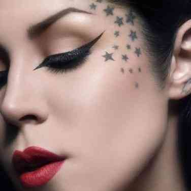 10 Tasteful Face Tattoos For Women Their Meanings Face Tattoos For Women Face Tattoos Kat Von D