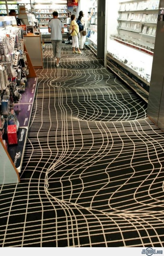 Illusions carpets and 3d optical illusions on pinterest for Floor illusions