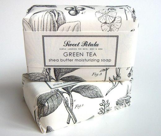 packaging design   natural / vintage / organic / floral / black and white