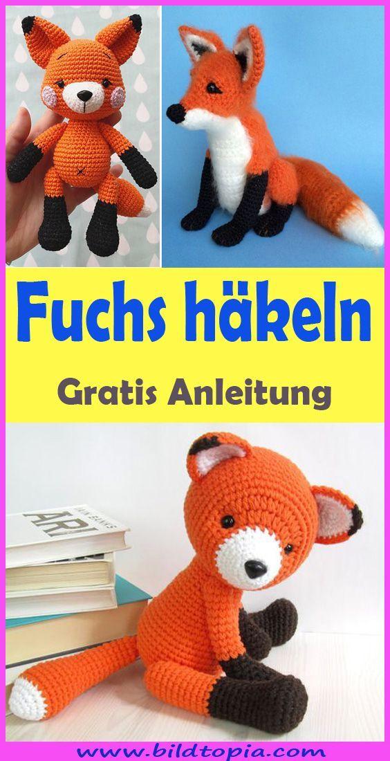 Amigurumi Fuchs Hakeln Kostenlose Einfache Anleitung Fuchs Hakeln Amigurumi Hakeln Einfache Strickprojekte