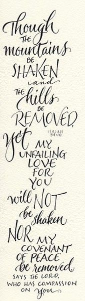 His love will not be shaken!
