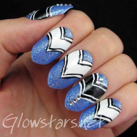 #nails #blue #nailart #polish - bellashoot.com