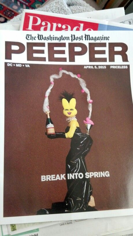 Cover of the Washington Post magazine for the 2015 Peeps contest