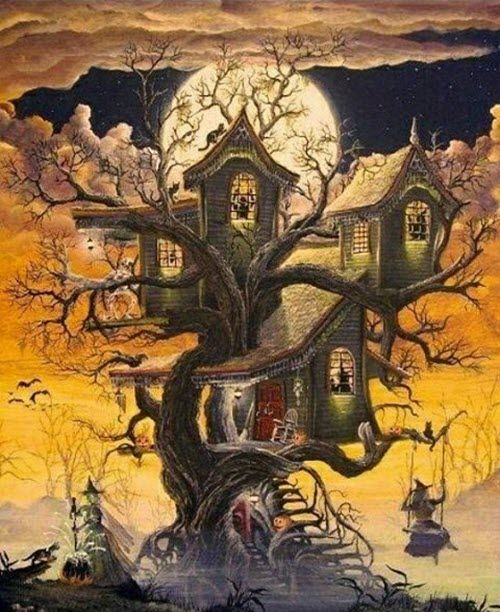 Halloween Art/_Decorating the Haunted House/_Cross Stitch Pattern