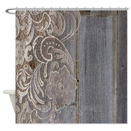barnwood white lace country Shower Curtain | Lace, Country and ...