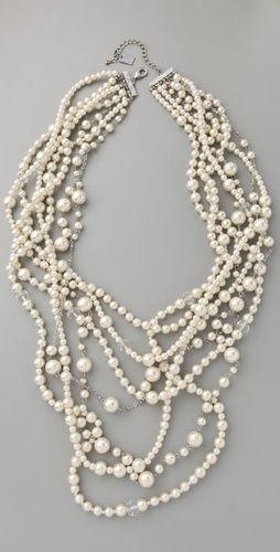 Haute Hippie Long Pearl Necklace
