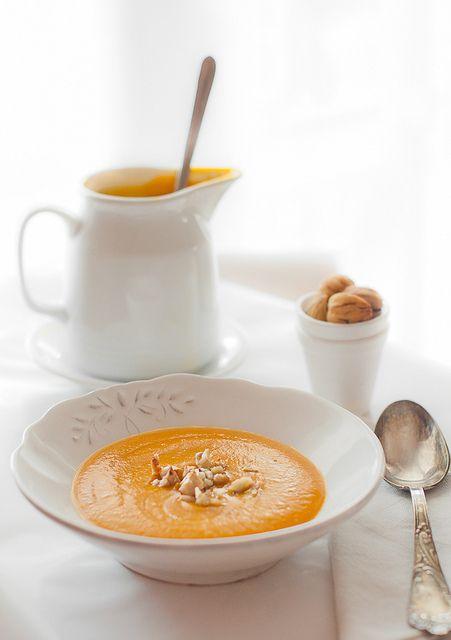 Butternut Squash (or simply pumpkin) & Chestnut Soup