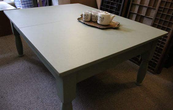Krijtbord salontafel (vintage recycled / uitschuifbaar) | HoutjeCloudje