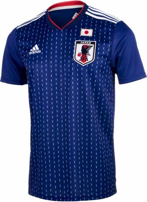 Adidas Japan Home Jersey 2018 19 Soccerpro Com Soccer Jersey Japan Soccer Jersey Design