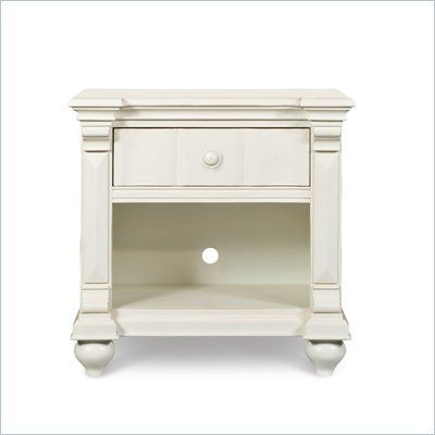 Magnussen Summerhill Wood Open Nightstand in Antique White Finish - Y1858-05