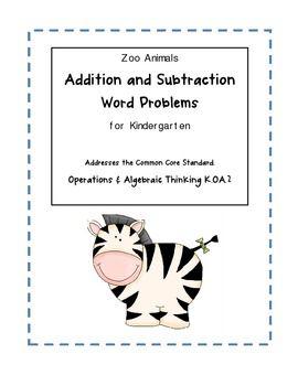 Number Names Worksheets addition problems for kindergarten : Words, Word problems and Kindergarten on Pinterest