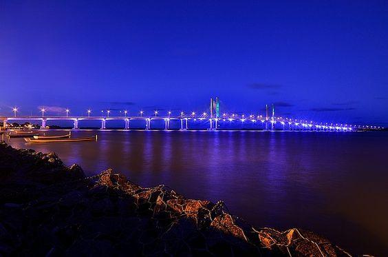 João Alves Filho Bridge in Aracaju, Capital City of Sergipe State_ Brazil