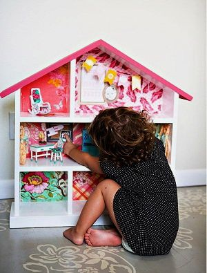 домик для кукол своими руками фото