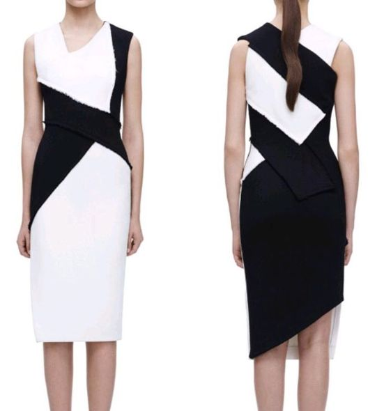 Victoria Beckham black and white shifts