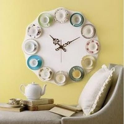 like this: Tea Time, Wall Clock, Teacupclock, Teacup Clock, Diy Craft, Diy Project, Tea Cups