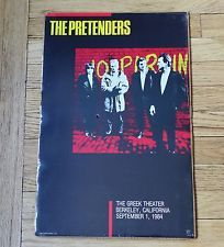 The Pretenders BERKELEY 1984 ORIGINAL CONCERT POSTER