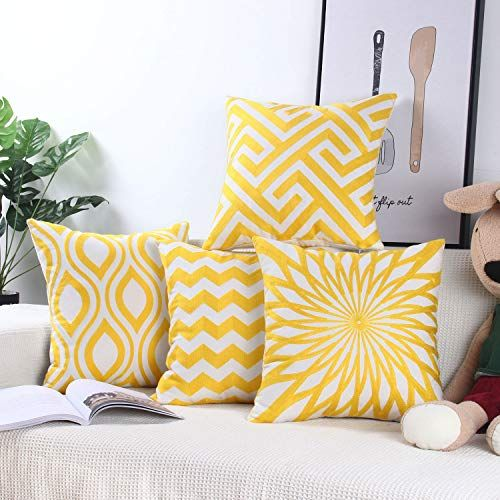 Zeroomade Decorative Throw Pillow Covers Embroidery Squar Https Www Amazon Com Dp B07ytymx34 Re Throw Pillow Covers Decorative Throw Pillow Covers Pillows