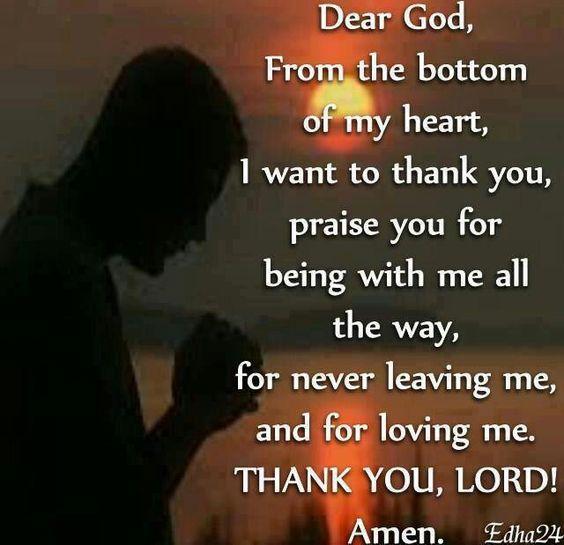 Dear God... THANK YOU, LORD!!! Amen