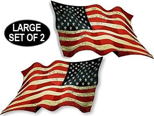 American Patriotic Old us America Distressed Vintage USA Flag Sticker