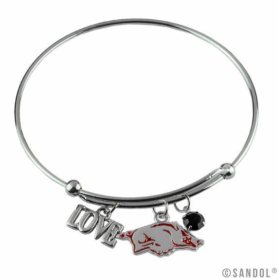 Arkansas Razorbacks Coil Wire Bangle Bracelet