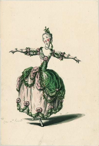 costume de sirne pour mlle guimard le ballet des sens jean joseph mouret