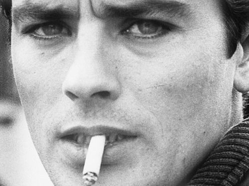 Alain Delon. I don't like him with any type of facial hair, it is a shame to…
