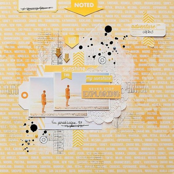 #papercraft #scrapbook #layout  Never stop exploring by **Marinette** @2peasinabucket