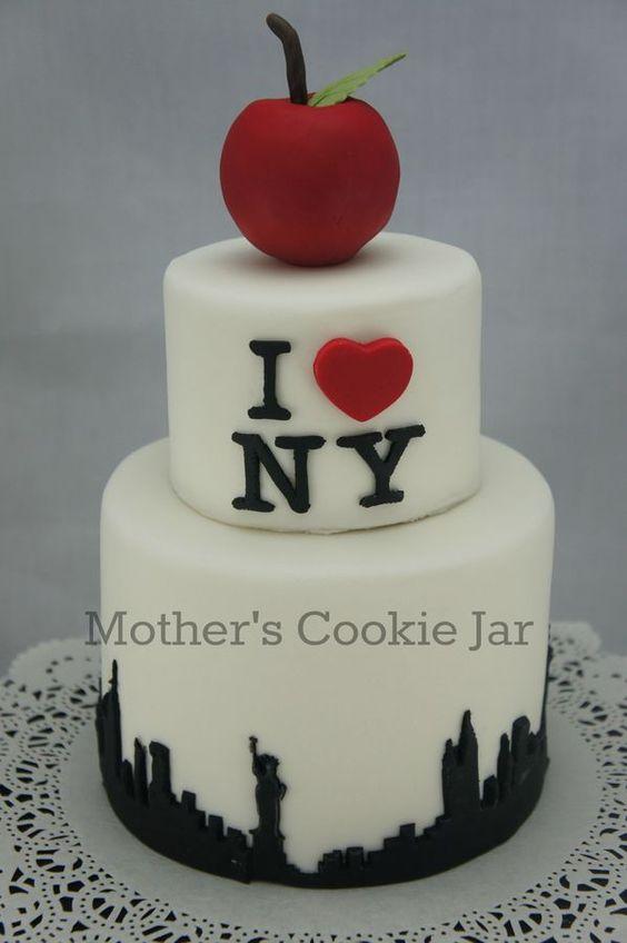 birthday cakes new york and york on pinterest. Black Bedroom Furniture Sets. Home Design Ideas