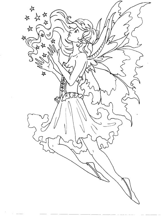 free online fairy coloring pages - photo#11