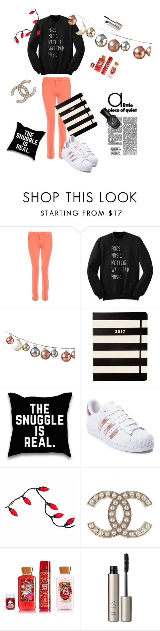 """Untitled #18"" by xxxx000 ❤ liked on Polyvore featuring J Brand, Kate Spade, adidas, Ilia and Deborah Lippmann"