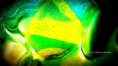 Steine, Color, Stones, fluss, Wasser, foto, fotografie, fotobearbeitung, grün, gelb, Kunstdruck,