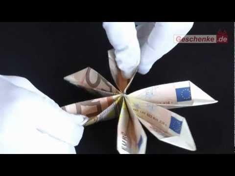 origami faltanleitung geldschein blume basteln diy muttertag hochzeit pinterest. Black Bedroom Furniture Sets. Home Design Ideas
