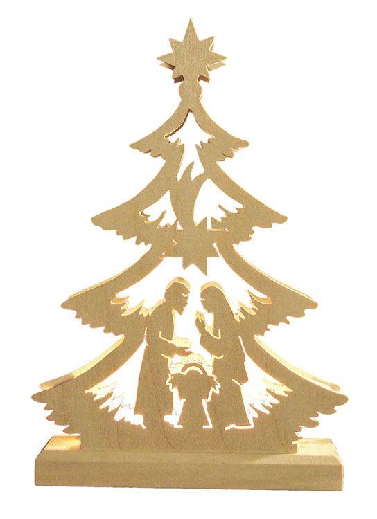 Schwibbogen Mini-Baum Krippenszene, LED - 23,5 x 15,5 x 4,5 cm